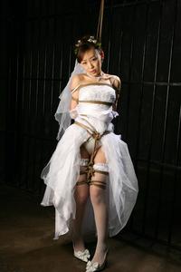 花嫁緊縛画像 SMボンデージ系CGイラスト E.T.Fishギャラリー:緊縛変態花嫁衣装