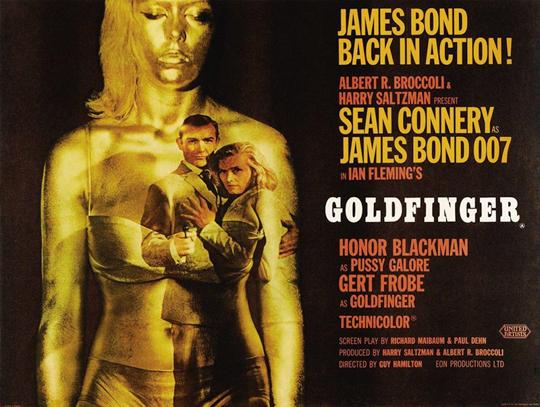 映画「007 ゴールドフィンガー」ポスター