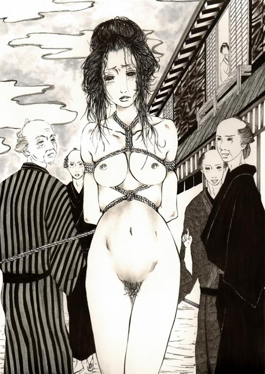 女縄 江戸時代全裸緊縛画像 江戸時代全裸緊縛画像